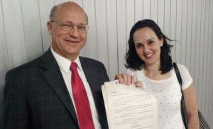 Deputado Carlos Neder e a dentista Cláudia Lima